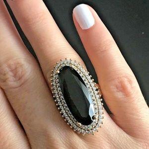 Gorgeous onyx ring (size 9-- resizable)